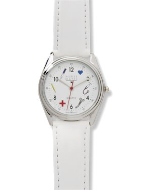 white Nurse Mates Medical Symbols Watch