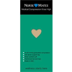 Nude Nurse Mates Medical Compression Knee Hi