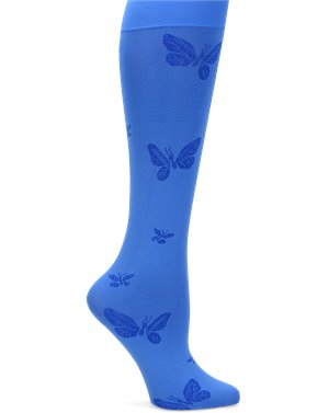 Electric Blue Nurse Mates Compression Trouser Butterfly