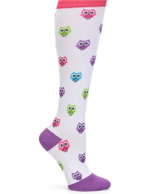 Owl Nurse Mates Compression Socks Wide Calf