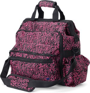 Pink Ribbon Hearts Nurse Mates Ultimate Nursing Bag