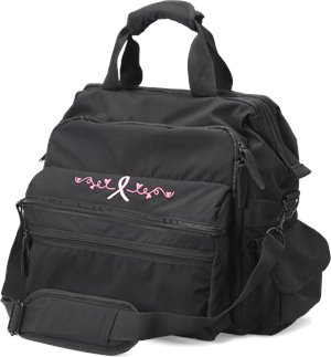Pink Ribbon Black  Nurse Mates Ultimate Nursing Bag