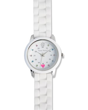 White Nurse Mates Sparkle Dot Watch