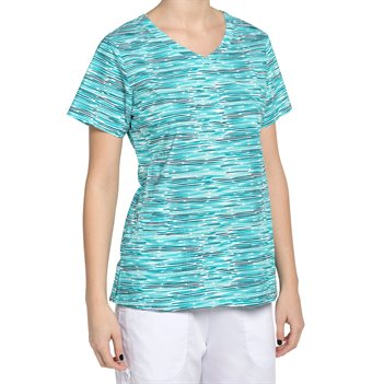 Erin Print Green Nurse Mates Maci Top