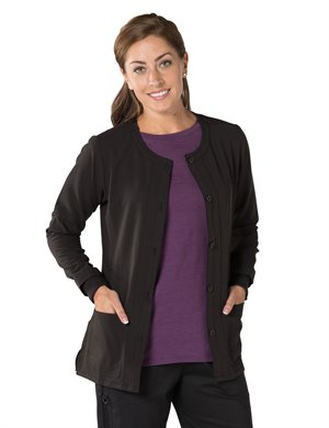 Black Nurse Mates Tara Warm Up Jacket