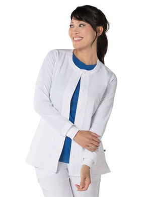 White Nurse Mates Tara Warm Up Jacket