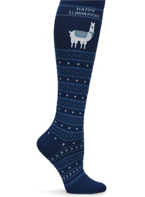 Happy Llamakkah Nurse Mates Compression Socks