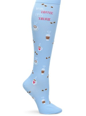 Coffee Talk Nurse Mates Compression Socks