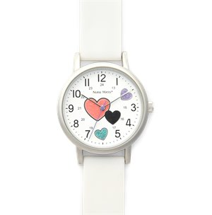 White Hearts Nurse Mates Shimmer Hearts Watch