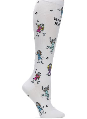 Nurses Rock Nurse Mates Compression Socks Wide Calf