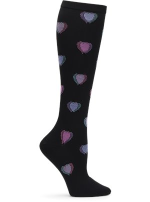 Heart Fusion Nurse Mates Compression Socks Wide Calf