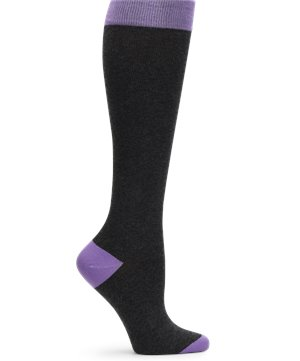 Charcoal and Purple Nurse Mates Cashmere Compression Socks