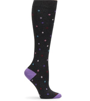 Charcoal Dancing Dot Nurse Mates Cashmere Compression Sock
