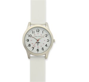 White Nurse Mates SWEEP WATCH CADUCUES WHITE