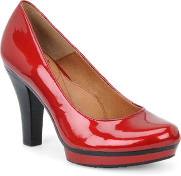Fire Red Pearlized Patent Sofft Broadway