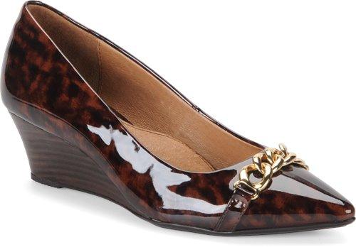 Cinnamon Leopard Patent Sofft Abbott