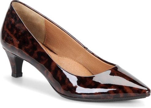 Cinnamon Leopard Patent Sofft Altessa