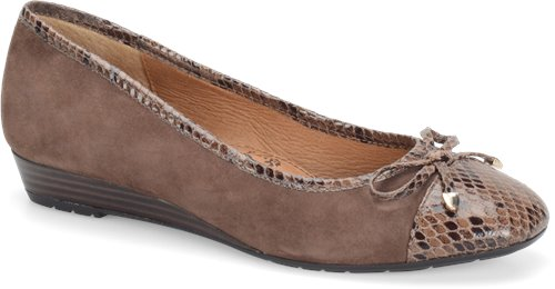 Medium Brown Suede Snake  Sofft Selima
