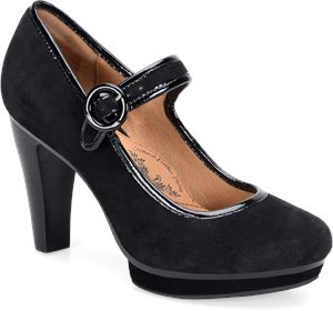Black Suede Sofft Monique