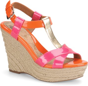 Orange/Neon Pink Multi Patent Sofft Pedra