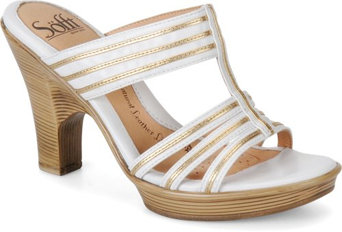 White/Rich Gold Sofft Perla