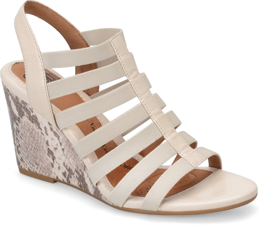 Combination Brown And Ivory Womens Shoes