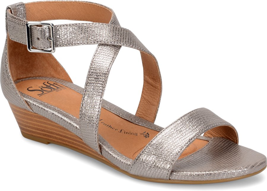 Sofft Innis In Silver Sofft Womens Sandals On Shoeline Com