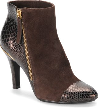 Chocolate Suede/Dark Brown Snake Sofft Makayla