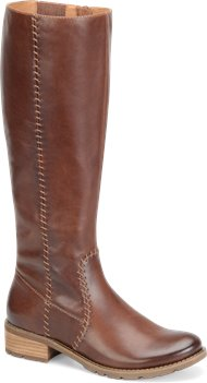 Sturdy Brown Wide Shaft Sofft Adabelle