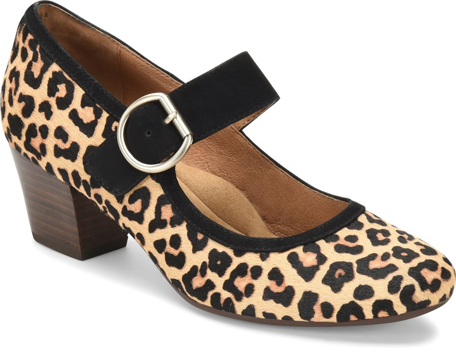 Pin Up Shoes- Heels, Pumps & Flats Sofft Womens Shoes - Lorna in Leopard Tan $104.95 AT vintagedancer.com