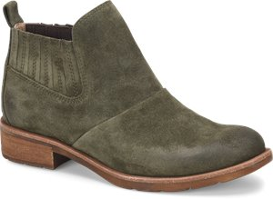 Army Green Suede Sofft Bellis
