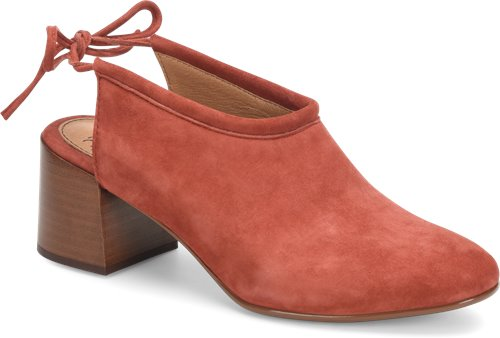 Terracotta Suede Sofft Lenora