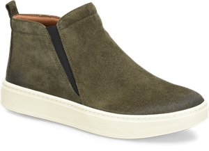 Army Green Suede Sofft Britton II