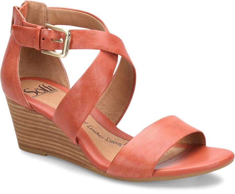 Sofft Mauldin In Mango Sofft Womens Sandals On Shoeline Com
