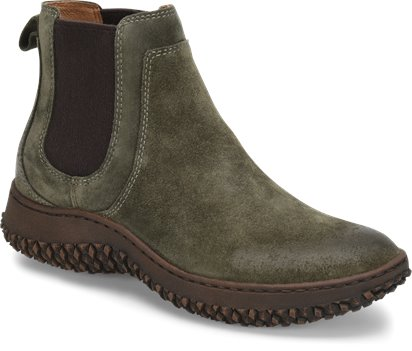 Army Green Suede Sofft Abry