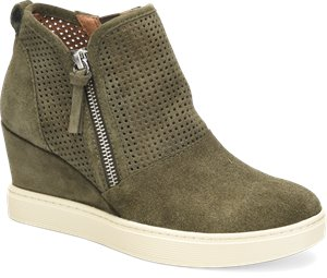 Army Green Suede Sofft Bellview