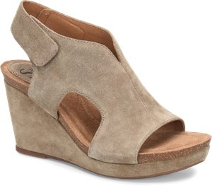 Light Taupe Suede Sofft Chloee