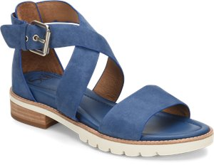 French Blue Suede Sofft Novia