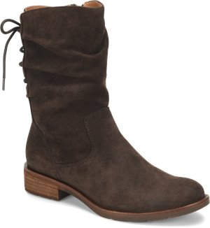 Dark Brown Suede Sofft Sharnell Low