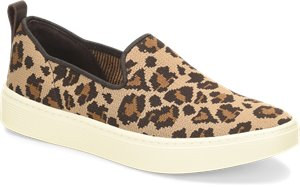 Tan Leopard Sofft Somers Slip On Knit