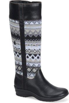 Black Grey Diamond Knit  Softspots Jersey