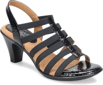 4e838275ae967a Softspots Naples in Black - Softspots Womens Sandals on Shoeline.com