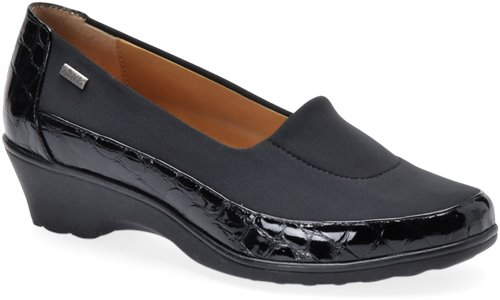 Black Croco Patent Softspots Sissel