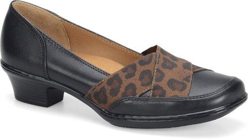 Black Leopard Elastic Softspots Scarlet