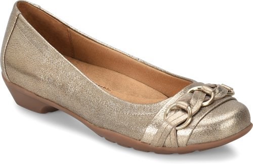 Gold Crackle Leather Softspots POSIE