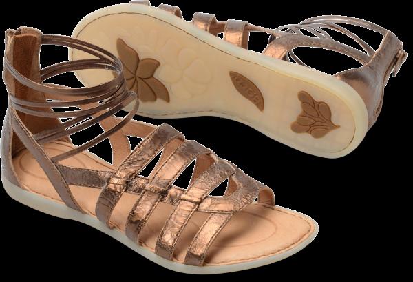 BORN Angeles Gladiator Sandals in Bronze