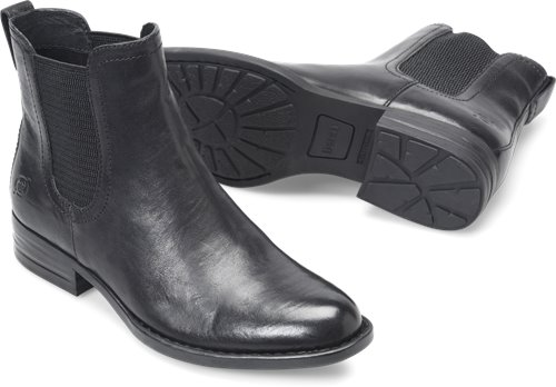 Born Casco In Black Leather Born Womens Boots On