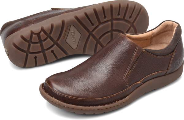 BORN Nigel Slip On : Brown - Mens