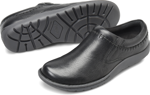 BORN Nigel Clog : Black - Mens