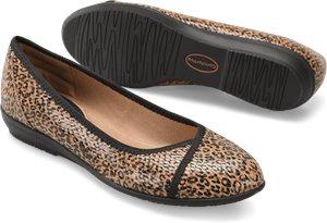 Tan Leopard Print Comfortiva Eaton